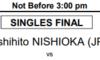西岡良仁デルレイビーチオープン2020の決勝いつ?対戦相手は